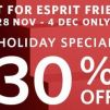 Esprit: 30% OFF on 3 Items or More for All Esprit Friends In Stores & Online