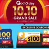 Qoo10: 10.10 Grand Sale with Up to $100 Cart Coupons For Grabs!