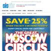 [SISTIC] The Great Moscow Circus – Book 4 or more tickets and SAVE 25%!