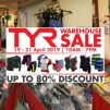 TYR: Warehouse Sale 2019 with Up to 80% OFF Sport Shoes, Sunglasses, Active Wear, Swimwear & More!