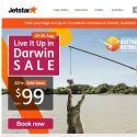 [Jetstar] 🐊 Live it up in Darwin, Australia with sale fares from $99^ only! Sale ends 25 Aug, book now.