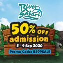 River Safari: Flash Sale with 50% OFF Adult/Child Admission!