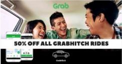 Grab: Coupon Code for 50% OFF All GrabHitch Rides