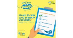 [Subway Singapore] Calling all SUBWAY® lovers! From 18 to 28 Feb, get active and turn your steps into free subs in our