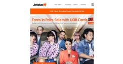 [Jetstar] 4 days only! Fares in Pairs Sale with UOB Cards starts now!