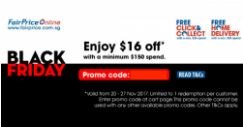 NTUC FairPrice: Coupon Code for $16 OFF Your Order
