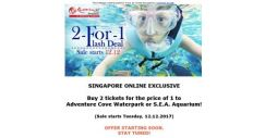 [Resorts World Sentosa] Singapore Online Exclusive for 12:12 – Buy 2 tickets for the price of 1