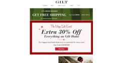 [Gilt] Extra 30% Off Home. Extra 40% Off Clearance. Biggest. Deals. Ever.