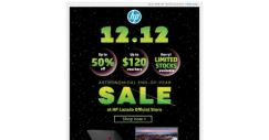 [HP Singapore]  It's Here! Up to 50% off at HP 12.12 End-Of-Year Sale!