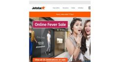 [Jetstar] Online Fever Sale | Celebrate 12.12 with irresistible flight deals, 18% off at ZALORA and more!