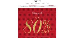 [Gilt] Up to 80% Off (This Is Big)