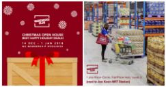 NTUC FairPrice: Warehouse Club Christmas Open House – Everyone's Invited!