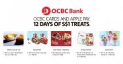 OCBC Cards: Enjoy Exciting $1 Sweet Treats from BreadTalk, Krispy Kreme, Swensens & More with Apple Pay!