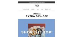 [Yoox] Last day: EXTRA 30% off a selection of TOP BRANDS is about to end
