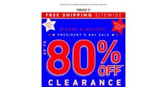 [FOREVER 21] Today Only: up to 80% OFF!!
