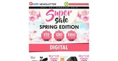 [Qoo10] Qoo10 Super Sale Spring Edition! Enjoy Awesome Deals and Discounts Everyday Every time Only in Qoo10!
