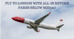 Norwegian Air Shuttle: Fly to London with All-In Return Fares Below SGD500!
