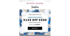 [Neiman Marcus] $125 off $500 ends tonight