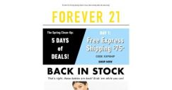 [FOREVER 21] 🌱 5 Days of Deals!   HELLO SPRING 🌱