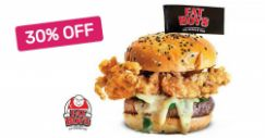Fatboy's The Burger Bar: 30% OFF One Signature Burger / Main Dish + One Drink