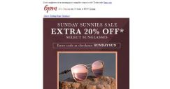 [6pm] Extra 20% coupon on select sunglasses from top brands!