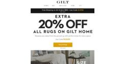 [Gilt] Extra 20% Off All Rugs on Gilt Home
