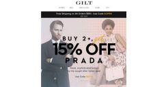 [Gilt] Buy 2+, Get 15% Off Prada: Italian Style, Made Simple