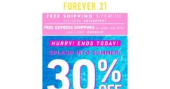 [FOREVER 21] TODAY ONLY ❗ FREE SHIPPING SITEWIDE ❗