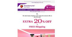 [StrawberryNet] Only 24 Hrs Left for Extra 20% Off + Free Shipping, so Shop Fast!