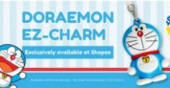 EZ-Link: NEW Doraemon EZ-Charms Now Available Exclusively via Shopee!