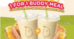 Mr Bean: 1-for-1 Classic Soya Milk + Ham n Cheese Eggwich Set Deal at Qoo10!