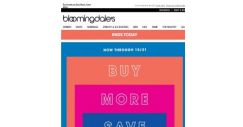 [Bloomingdales] Ends today! Take 20-30% off