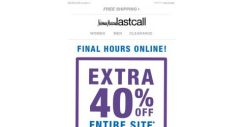 [Last Call] Final hours >> extra 40% off ENTIRE SITE