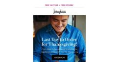 [Neiman Marcus] Last day! Thanksgiving meals made easy