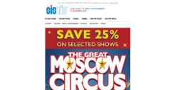 [SISTIC] Save 25% on THE GREAT MOSCOW CIRCUS! Now playing until 9 December.