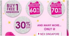 Sasa Singapore: Buy 1 Get 1 FREE Selected Brands, Birthday Treats Up to 70% OFF, 30% OFF & Many More at NEX & Jurong Point!
