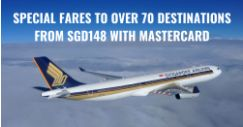 Singapore Airlines: Special Two-to-Go Fares to More than 70 Cities from SGD148 with Mastercard
