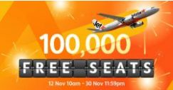 Jetstar: 100,000 FREE Seats to Bali, Taipei, Bangkok, Hong Kong & More Up for Grabs!