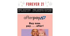 [FOREVER 21] Introducing…Afterpay!