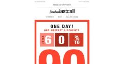[Last Call] ***CONFIDENTIAL*** An extra 60%–90% off clearance is happening now