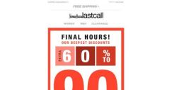 [Last Call] FINAL HOURS: extra 60%–90% off clearance
