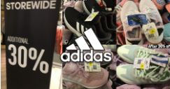 Adidas Factory Outlet: 30% OFF Storewide at Velocity@Novena Square Outlet!