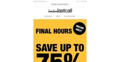 [Last Call] ⚡ FLASH SALE ⚡ FINAL HOURS ⚡ up to 75% off
