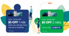 Grab: Enjoy $5 off Your Ride with Your UOB Credit/Debit Card!