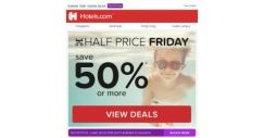 [Hotels.com] You've uncovered this: 50% off – Half Price Friday