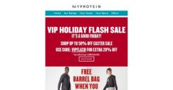 [MyProtein] Today Only! VIP Holiday Flash Sale ⚡