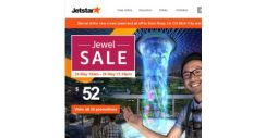 [Jetstar] 💎✈ Jewel Sale fares to 20 destinations from $52^ all-in! Book now.