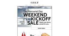 [Gilt] Memorial Day SALE. 24-Hour Prices for Your Eyes Only 👀