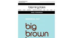 [Bloomingdales] Save up to 70%–ends tomorrow!