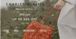 Charles & Keith: Online Sale with Up to 50% OFF Selected Styles!